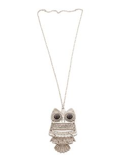 Buy OWL NECKLACE - OXIDISED • Just Pretty Things