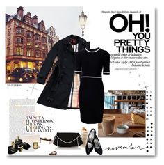 """""""London November"""" by monika-jall ❤ liked on Polyvore featuring PAM, Thierry Mugler, Cire, Martha Stewart, Yves Saint Laurent and Monsoon"""