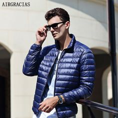Cheap coat down, Buy Quality coat for men directly from China coats coats Suppliers: AIRGRACIAS 2017 Top Quality Men's Warm Jacket Light Thin White Duck Down Parka Windproof Casual Outer coat For Men Duck Down Jacket, White Ducks, Hooded Parka, Down Parka, Vest Jacket, Winter Jackets, Casual, Clothes, Tops