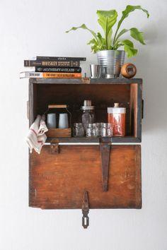 DIY wood box shelf/cabinet
