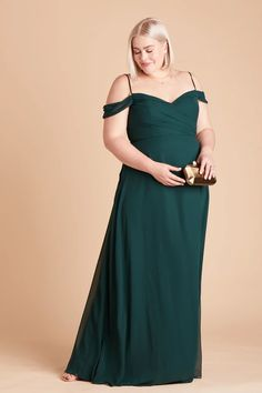 Spence Plus Size Convertible Chiffon Bridesmaid Dress in Emerald – Birdy Grey Peacock Bridesmaid Dresses, Bridesmaid Dresses Under 100, Affordable Bridesmaid Dresses, Bridesmaid Dresses Plus Size, Bridesmaids, Emerald Green Dresses, Blue Dresses, Wedding Dress With Pockets, Dress Pockets