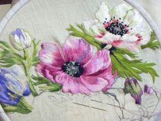 peinture a l'aiguille - blog de Catherine Laurencon