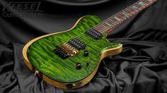 Kiesel Guitars Carvin Guitars SCB6 in Moss Green Quilt