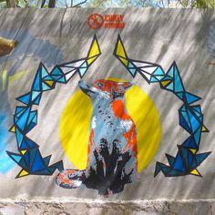 @CurlyStencil_es  en el Bosque Colomos #Guadalajara JAL #México. #Stencil #StreetArt #Graffiti #EstencilMexico  Gracias por la ayuda Curlys. by soylo