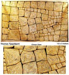 """Aboriginal Fine Art Thomas Tjapaltjarri """"Tingari"""" 1.8m x 3m"""