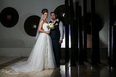 Modern destination bride and groom portraits at ME Cancun Resort in Mexico. Magic Art Wedding Studio