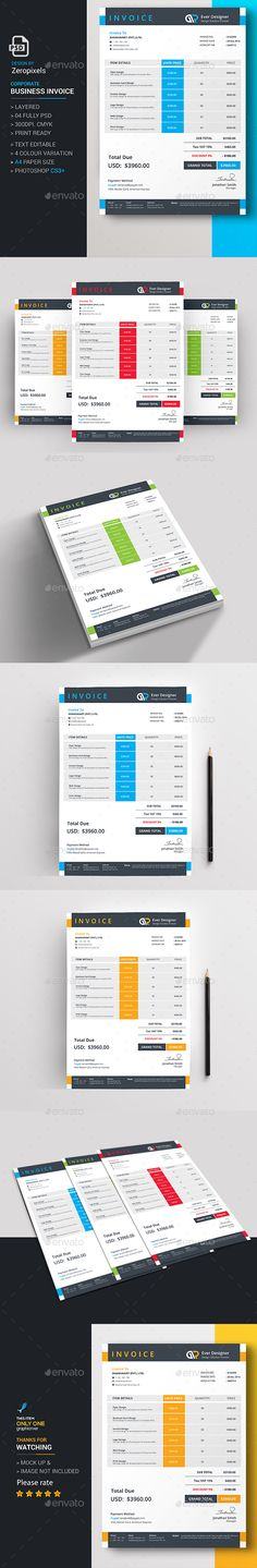 Business Invoice Template Invoice Templates Pinterest - business invoice templates