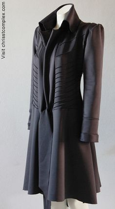 Steampunk équitation veste Goth Long manteau Chrisst par chrisst
