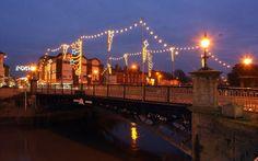 The Town Bridge at Christmas.