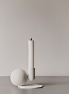 Optical candleholder by Menu