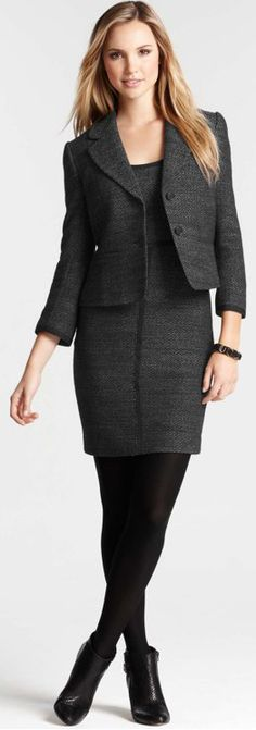 Ann Taylor I have worn this exact outfit to do a presentation at work, except mine was from Banana Republic. Business Professional Dress, Professional Outfits, Office Fashion, Work Fashion, Office Outfits, Office Wear, Work Outfits, Business Attire, Business Lady