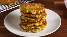 Zucchini Corn Cakes by Delish Vegetable Recipes, Vegetarian Recipes, Cooking Recipes, Healthy Recipes, Cooking Steak, Corn Recipes, Healthy Options, Pasta Recipes, Healthy Food
