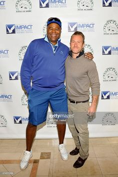 Actors Chi McBride and Scott Caan attend the 12th Annual James Caan Celebrity Golf Classic at El Caballero Country Club on May 11, 2015 in Tarzana, California.