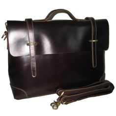 Men's Handmade Genuine Leather Briefcase Handbag Messenger Laptop Bag