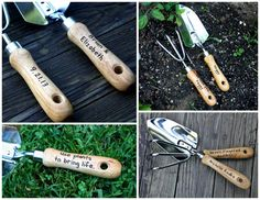 Personalized Garden Tool Set  Hand Trowel  Short Shovel  Mothers Day Gift   Gardener  Gift   Gift For Mom  Retirement Gifts   Hand Engraved