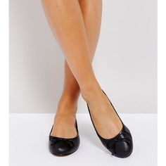 ASOS LIFESAVER Wide Fit Leather Ballet Flats ($32) ❤ liked on Polyvore featuring shoes, flats, black, black leather flats, black slip on shoes, black ballet shoes, wide width ballet flats and ballet flat shoes