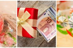 Geldgeschenke originell verpacken: 11 kreative Ideen Wedding Gifts, Wraps, The Originals, Ferrero Rocher, Creative Gifts, Wrapping, Wordpress, Dessert, Gift Ideas
