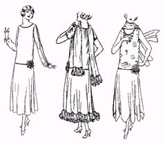 Past Patterns    #5622: Ladies' Evening Dress circa 1923 - I'm in a Twenties sort of mood just now
