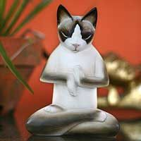 Breathing Yoga Cat from @NOVICA, They help #artisans succeed worldwide.
