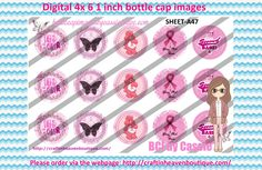 1' Bottle caps (4x6) Digital Pink Breast Cancer Awareness A47 CAUSES & AWARENESS BOTTLE CAP IMAGES #AWARENESS #CAUSES #bottlecap #BCI #shrinkydinkimages #bowcenters #hairbows #bowmaking #ironon #printables #printyourself #digitaltransfer #doityourself #transfer #ribbongraphics #ribbon #shirtprint #tshirt #digitalart #diy #digital #graphicdesign please purchase via link  http://craftinheavenboutique.com/index.php?main_page=index&cPath=323_533_42_55