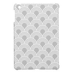 Art Deco Great Gatsby Style Mod Shell Pattern iPad Mini Cover
