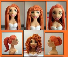 cake topper hairstyles by House of The Rising Cake