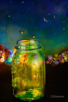 """""""May you touch fireflies and stars, dance with fairies, and talk to the man in the moon. May you grow up with love and gracious hearts and people who care."""