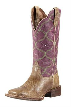 Ariat Women's Purple Big City Cowgirl Boots