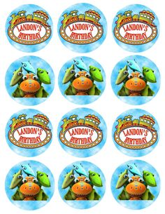 Dinosaur Train Birthday Cupcake Toppers or by KirstensKreation