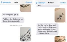 Hand Lettering meets Text Messaging