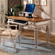 Lowest price online on all Hillsdale Wilshire Wood Writing Desk in Antique White - 4508D