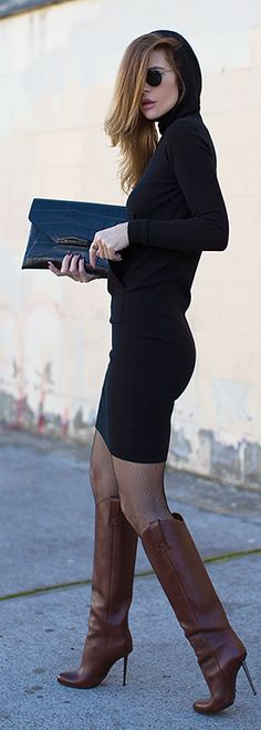 Cold weather LBD + camel boots