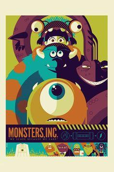 Monsters Inc. ~ Minimalist movie poster
