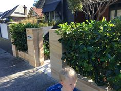 Incorporate heading and sandstone in front fence