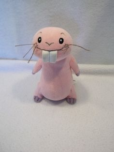 "Disney KIM POSSIBLE rufus naked mole rat 7"" plush toy USED"