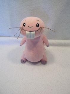 "Disney KIM POSSIBLE rufus naked mole rat 7"" plush toy USED"