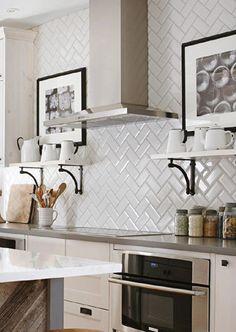 Inspirational White Subway Tile for Kitchen Backsplash