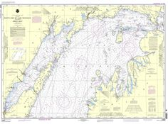 For above the bed (a map that includes both places he and I spent our summers): NOAA Nautical Chart 14902: North end of Lake Michigan, including Green Bay