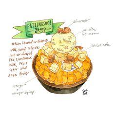 patbingsoo 팥빙수  #hunniffdoodle #watercolour #draw #drawing #tdac #foodillustrations #illustration #illustrations #팥빙수  #patbingsoo
