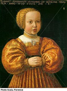 seisenegger elizabeth of austria at the age of four mauritshuis
