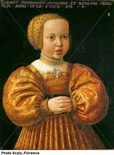 seisenegger elizabeth of austria at the age of four mauritshuis