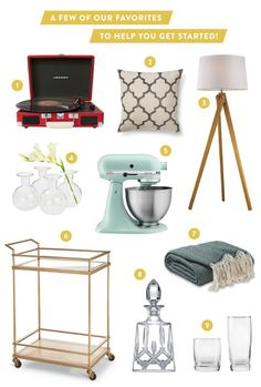 Our fave items from Target: http://www.stylemepretty.com/2015/02/06/target-registry-event-recap/