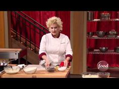 Cherry Crepes by Chef Anne Burrell ... oh yes, please!  #hgeats