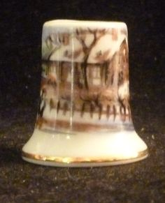 House In Winter Thimble