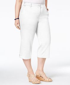Charter Club Plus Size Capri Pants, Only at Macy's