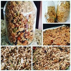 Mamas if you have a sec this weekend here is an easy granola recipe you can make for the upcoming week. What I love about homemade recipe is just how forgiving it is, if you start making granola at home you will realize that it is a recipe that honestly don't care, you can switch around ingredients so long as the ratios are the same.