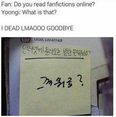Poor Yoongi...I bet he looked it up afterwards XD