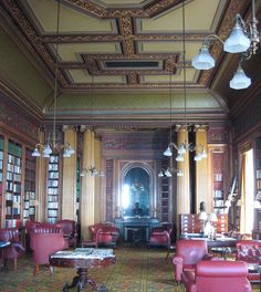 the library at the Reform Club - My beloved Reform Club - Around The World In 80 Days, Around The Worlds, English Country Decor, Stop Smoke, Gentlemans Club, London Clubs, Grand Tour, Curb Appeal, Victorian
