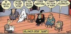 Halloween group therapy. Counseling funny!