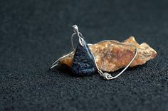 Gemstone necklace Pietersite pendant handmade jewelry by SAGaStone
